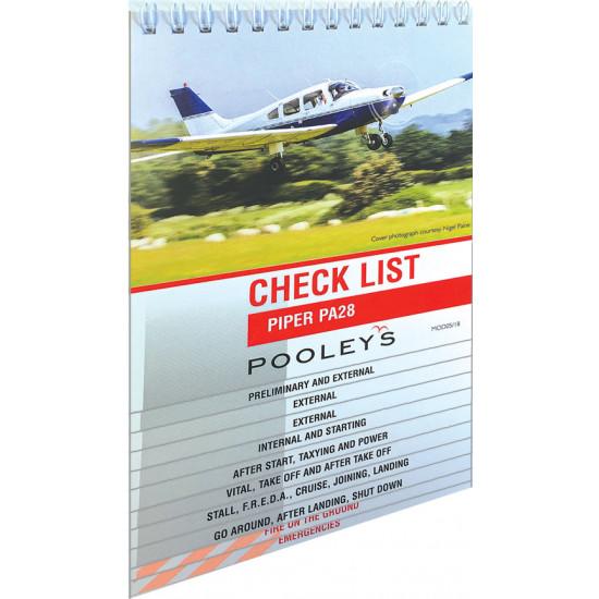 Чек-лист авиационный Pooleys Piper PA28 Checklist