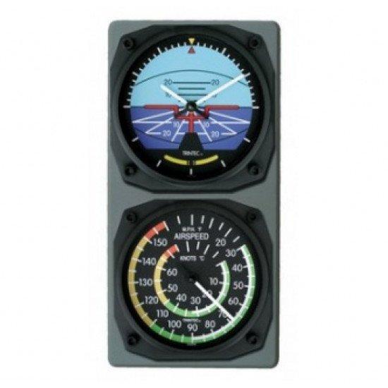 Винтажные часы с термометром VINTAGE ARSPD THERM / HRZN CLOCK