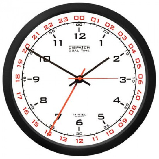Часы настенные DUAL TIME 12/24 WHITE