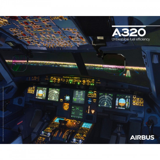 Плакат авиационный A320 Neo Cockpit View