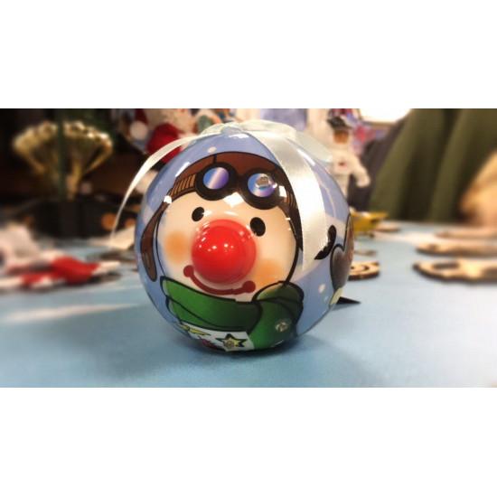 Елочная игрушка Снеговик Авиатор