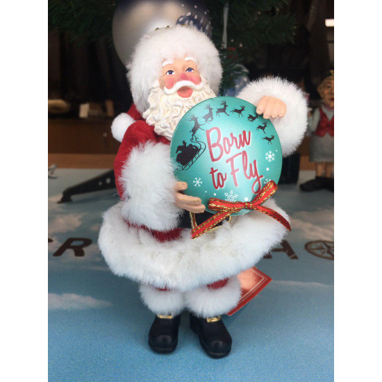 Елочная игрушка Santa Born to Fly