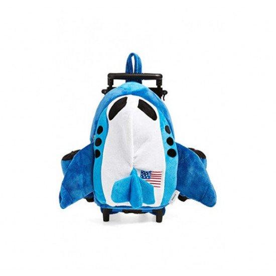 Дорожная сумка детская BLUE AIRPLANE TROLLEY BACKPACK