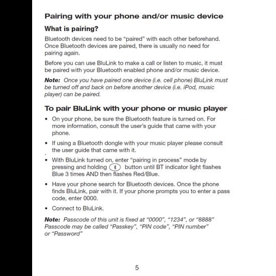 Bluetooth адаптер (BluLink, GA Twin Plugs)