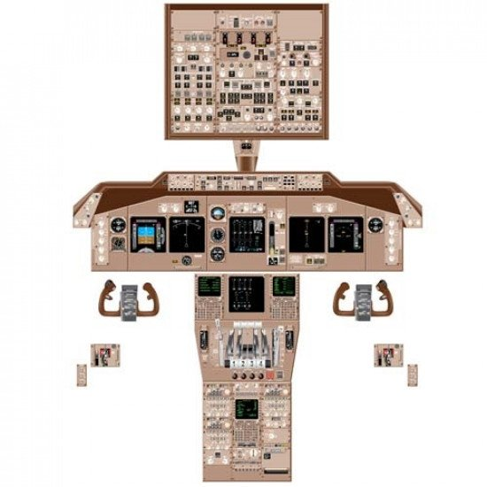 Кабина Boeing 747-400 cockpit poster