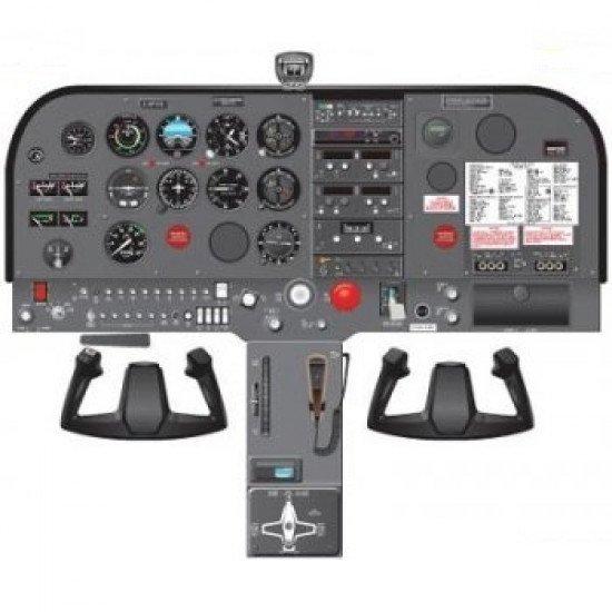 Кабина Cessna C172P cockpit poster