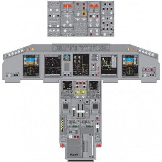 Кабина Embraer ERJ 170/190 Cockpit poster