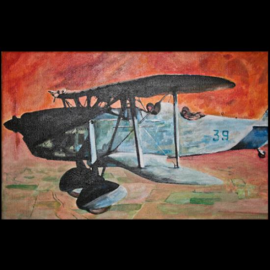 """Картина авиационная """"С войны"""""""