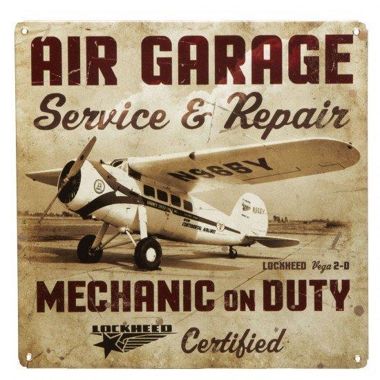 Знак авиационный Air Garage Repair металлический